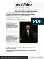 21-02-12 Intervención de Cano Vélez  sobre el Resultado de la Fiscalización Superior de la Cuenta Pública 2010