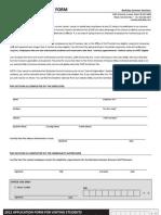 2012 Staff Discount App Form