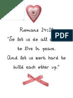 Romans 14;19