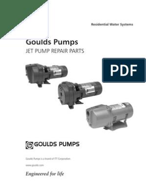 Goulds Pumps Jet Pump Repair Parts (1) | Pump | Valve