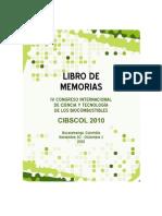 MEMORIAS CONGRESO CIBSCOL 2010