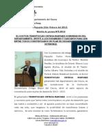 EL DOCTOR TEMISTOCLES ORTEGA NARVAEZ GOBERNADOR DEL DEPARTAMENTO, INVITÓ A LOS PAYANESES Y CAUCANOS PARA QUE ENTRE TODOS CONSTRUYAMOS UN PLAN DE DESARROLLO VIABLE Y SOTENIBLE