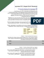 Pemrograman PLC Dengan Kode Mnemonic