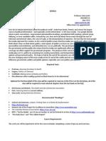 Politics and The Media - POLS 137 Z1 - Course Syllabus