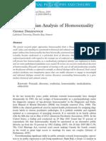 A Foucauldian Analysis of Homosexuality