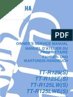 Yamaha TTR125 User Manual