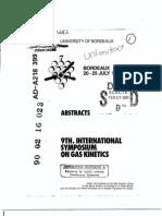 9th International Symposium on Gas Kinetics