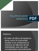 Taller de Micro-Enseñanza