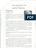 Israel, Iran, And US- Resolving Nuclear Threat
