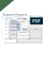 4e Character Sheet