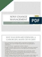 Sony Change Management