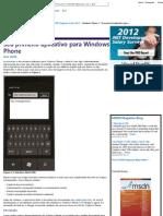 Windows Phone 7 - Seu Primeiro Aplicativo Para Windows Phone