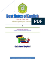 Notes English Matric AIOU