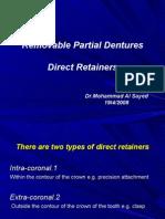 Removable Partial Dentures(Direct Retiner)