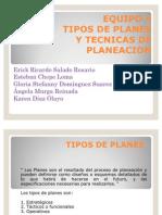 Tipos de Planes y Tecnicas de Planeacion Fundamentos de Gestion Empresarial