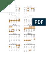 jadual cuti sekolah 2011