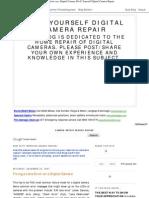 Fixing a Lens Error on a Digital Camera _Do It Yourself Digital Camera Repair