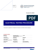 Electrical Test Procedure