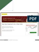 Www Piano Lessons Central Com Piano Scales Piano Fingerings