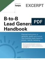 B-To-B Lead Generation Handbook