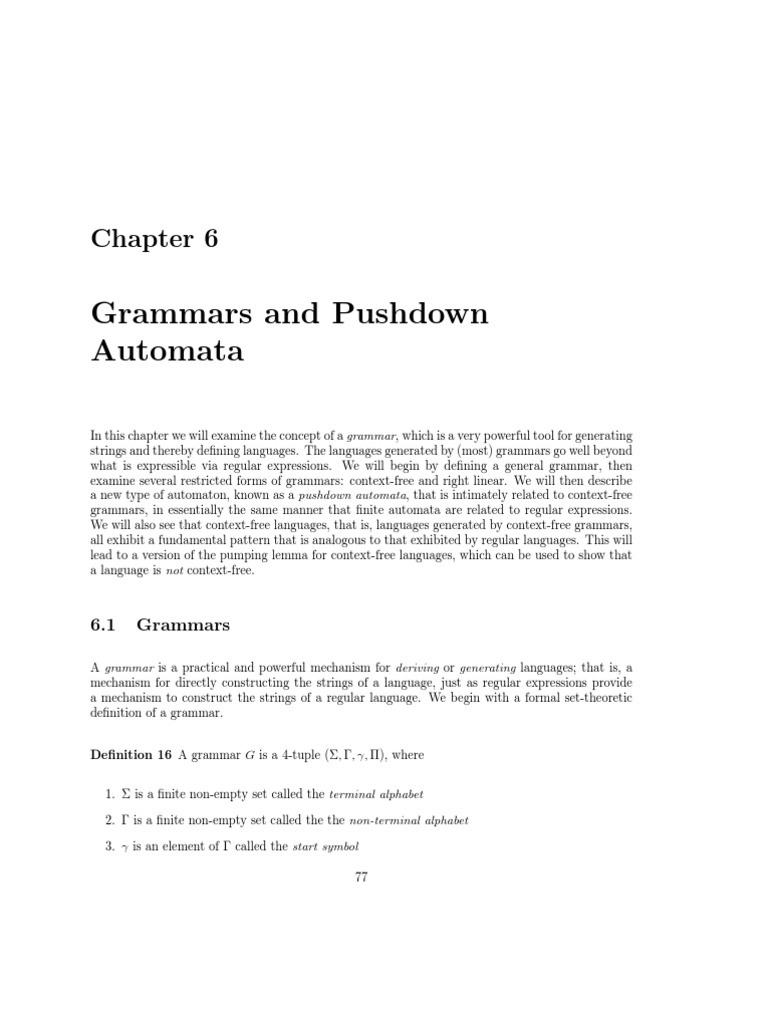 Chapter 6 automata theory theoretical computer science biocorpaavc