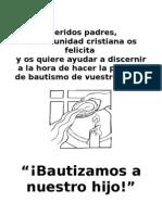 Pastoral Bautismal Impreso