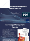 The Knowledge Management Center in ADB