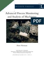 Advanced Process Monitoring and Analysis of Machining