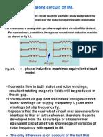 4. Equivalent Circuit of IM