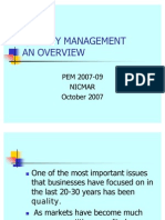 Quality Management an Overview Nicmar October 2007 1233776453127054 2