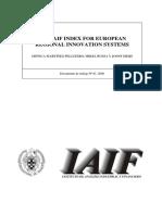 The IAIF Index for European Regional Innovation Systems