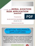 Aviation Application Webinar