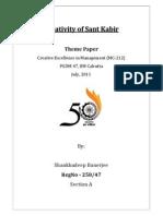 Theme Paper - Kabir