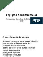 Coordenação de equipas educativas