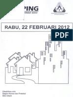 Scan Kliping Berita Perumahan Rakyat dari Media Cetak,  22 Februari 2012