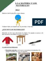 materia y materiales. tema de cono de 4º de primaria