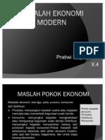 Masalah Ekonomi Modern