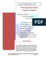 People and Professions Texto