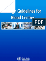 Design Guidelines for Blood Centers