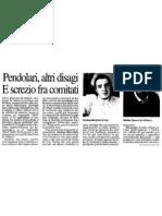 """Pendolari, altri disagi e screzio fra comitati (""""La Provincia"""", 22-02-2012, p. 17)"""