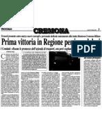 """Prima vittoria in Regione per i pendolari (""""Il Piccolo"""", 17-02-2012, p. 3)"""