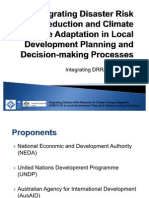 Integrating Disaster Risk Reduction and Climate Change Adaptation in Local Development Planning and Decision-making Processes