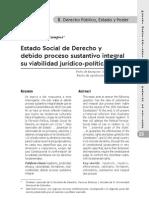 Pensamiento jurídico 27 Estado Social de Derecho y debido proceso sustantivo integral
