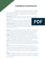 Glosario de Fundamentos de Investigacion