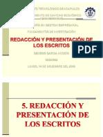 Unidad v Redaccion y Presentacion de Los Escritos