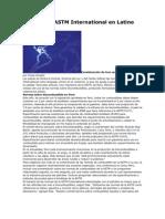Normas de ASTM International en Latino América