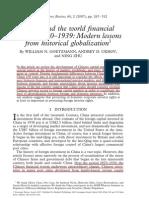 China and World Finance History