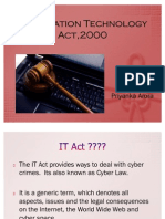 Information Technology Act,2000 Ppt
