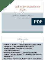 Variabilidad en Polarización de NGA