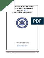 TPS 3 0 3 Functional Guidance[1]